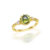 Guangzhou jewelry real gold plated natural peridot ring