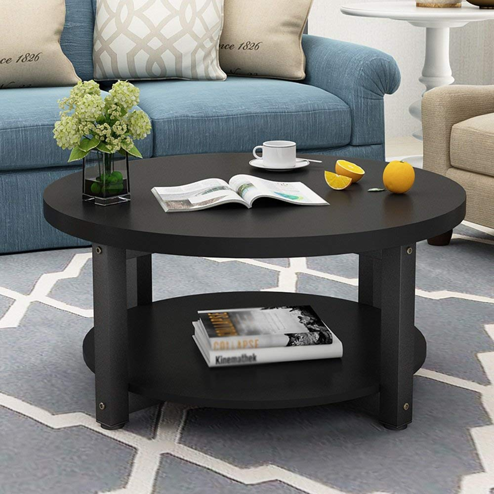 CAICOLOUR Coffee Table, Low Table, Simple Living Room, Small Coffee Table-504530cm (Color : Black)