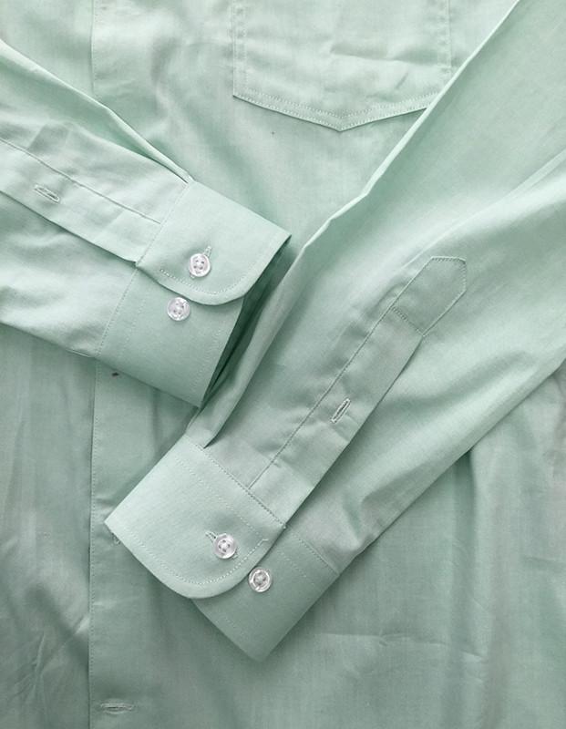 Camisa Verde Claro De Popelina Para Hombre,Camisa De Vestir
