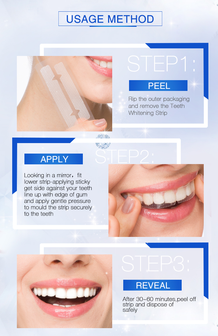 3d Tanden Whitening Gel Strips 5-Minute tand whitening