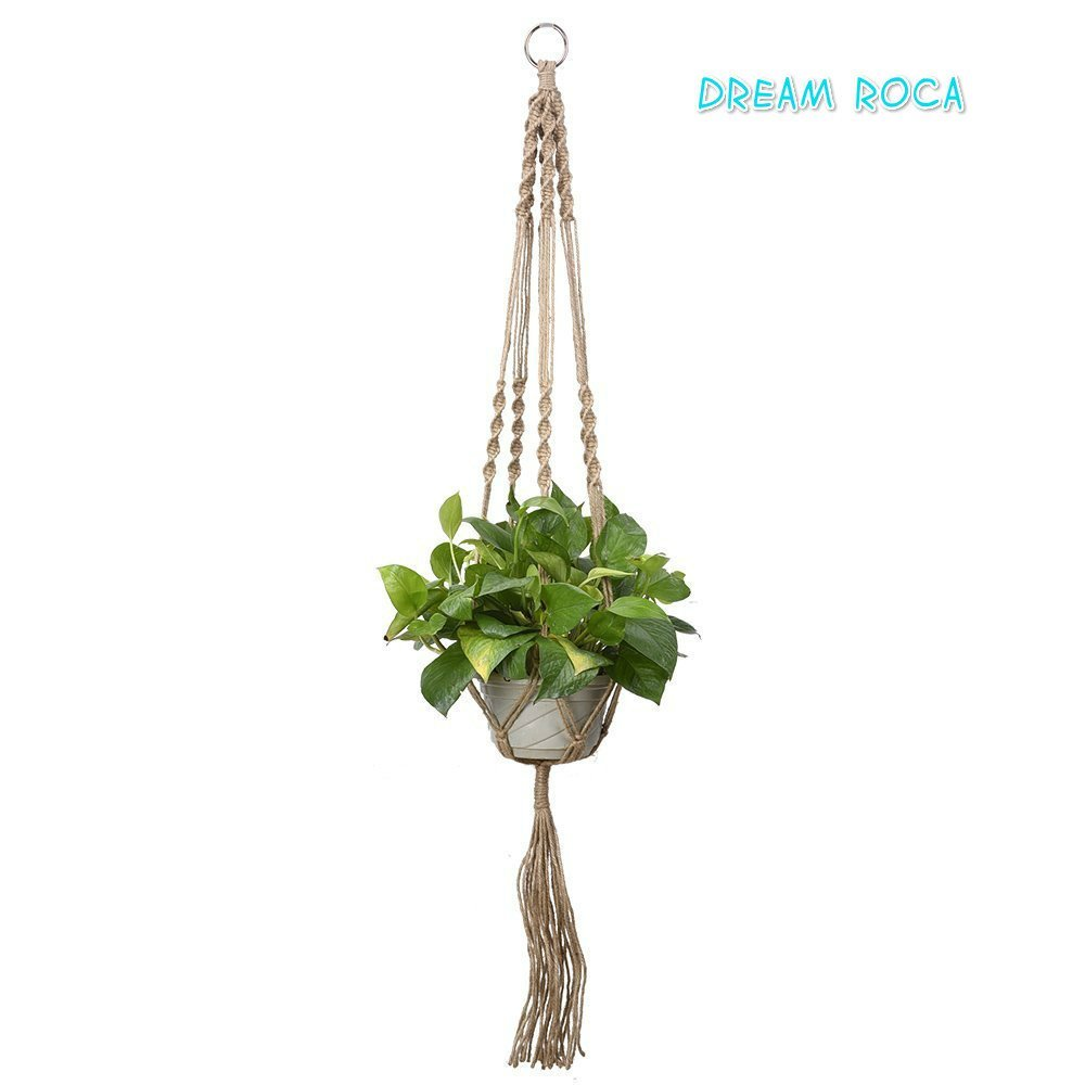 Get Quotations · Plant Hanger Macrame Leg 40 Inch With Beads Best  Recommended Plant Hanger Rope For Indoor Outdoor