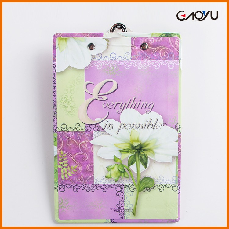 Decorative Writing Dry Erase Easy To Use Display Paper Notepad Recycled Clip Board