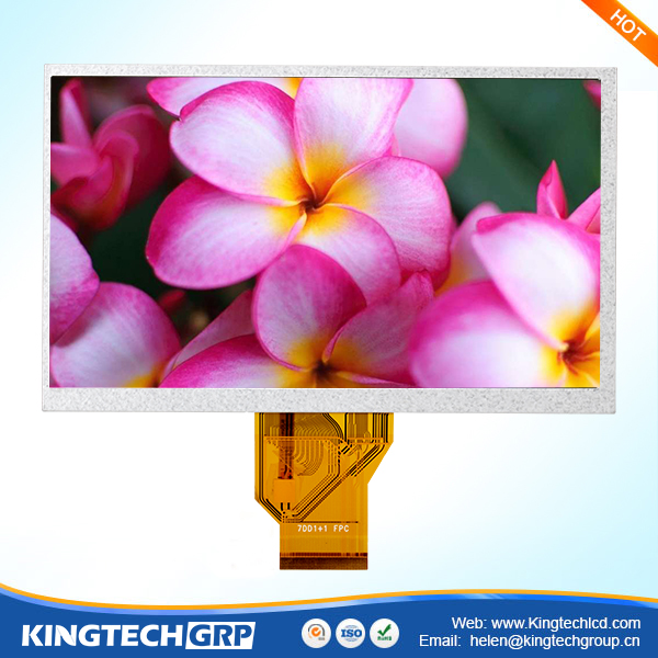 "china supply 7 inch hot selling 800x480 7"" with capacitive touch panel lcd"