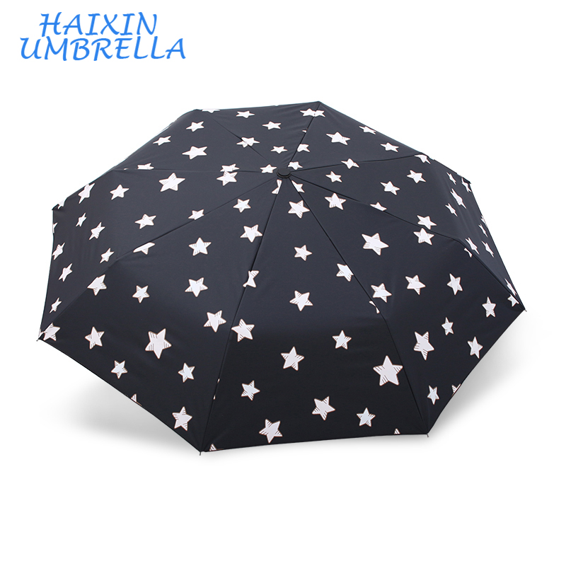 Shangyu Manufacturing Customizable Gifts Jing Pin Mini Pocket UV Telescopic Umbrella Folding with Round Paper Cylinder Packing
