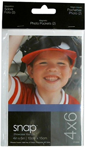 Snap 4x6 Clear Acrylic Magnetic Frame (Set of 2)