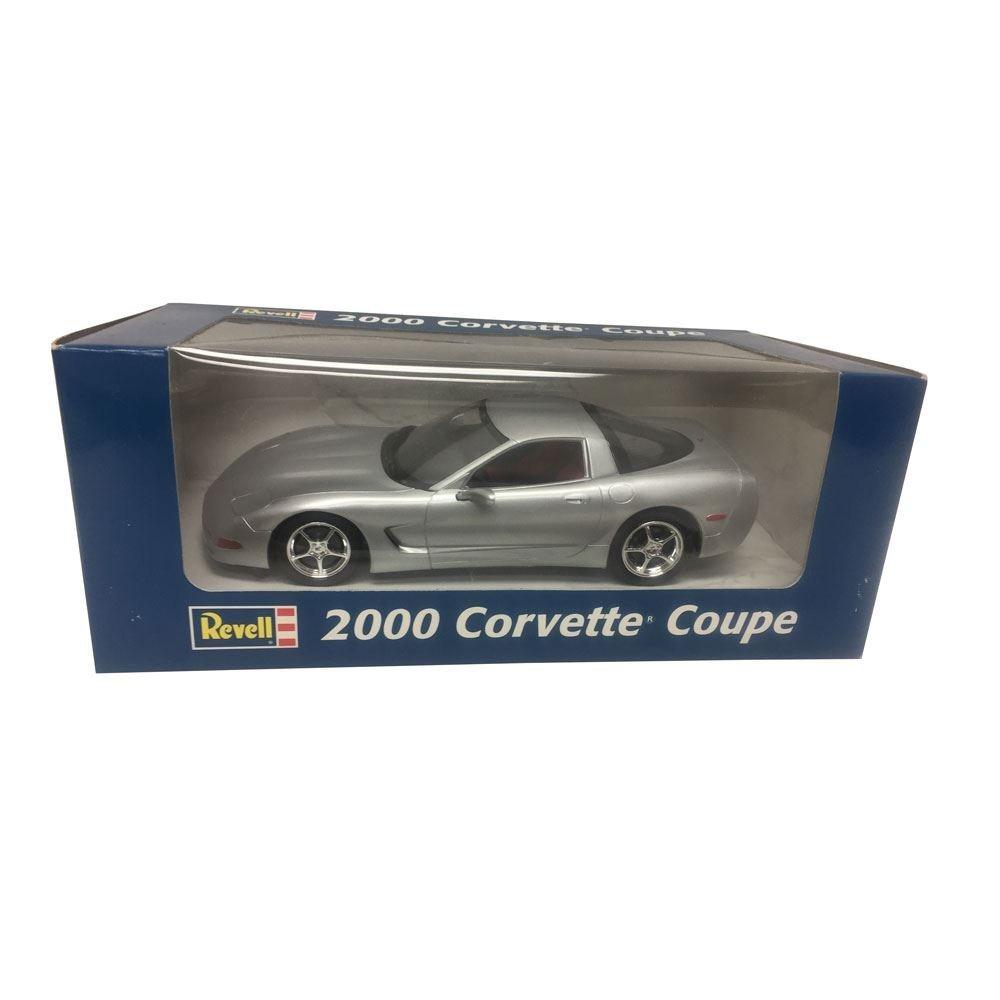 Revell Chevrolet 2000 Corvette Coupe 1:25 Scale Plastic Promo Silver Metal Car Replica
