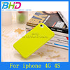 Bright solid color gel jelly TPU case for iphone 4 cover