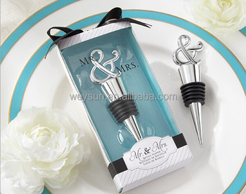 Mr Mrs Wine Stopper Wedding Favors And Gifts Party Supplies
