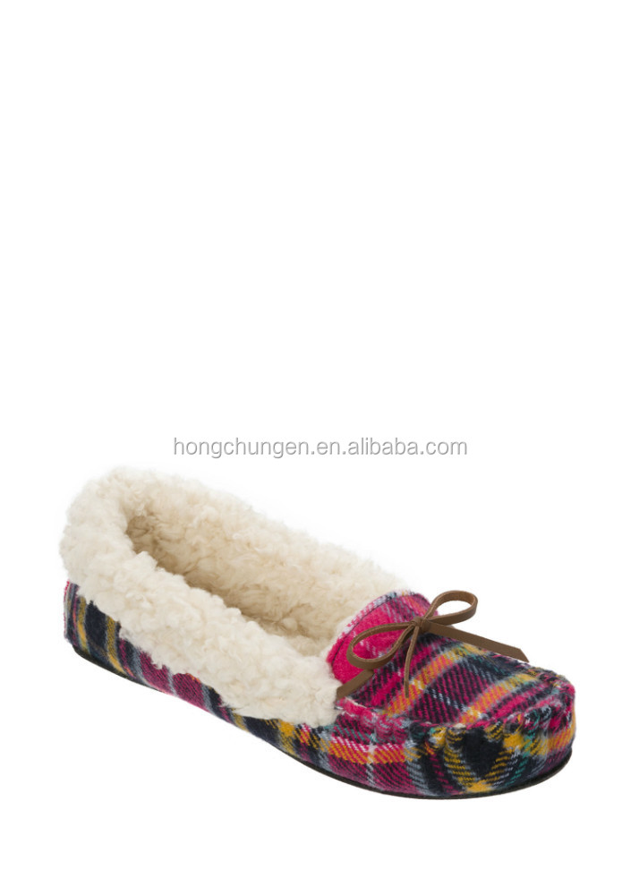 Multi Fabrication Moccasin Slippers