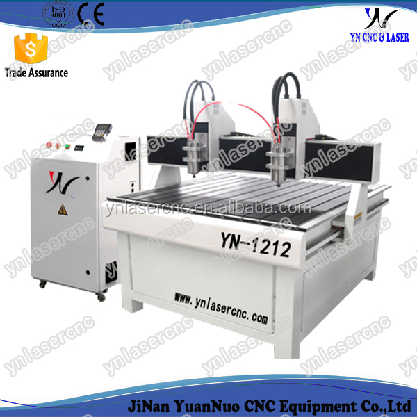 YNC 1212 3d two spindle cnc router machine