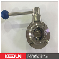 SS304 316L Machinery Manufacture Sanitary Fast loading Butterfly Valve