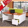 Superior quality high end double sided office desk with lockers