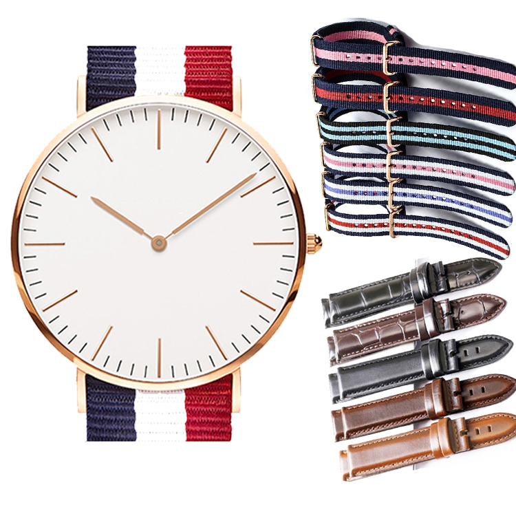 Customized high quality slim watch faces with your own logo to make your own quartz brand slim watch