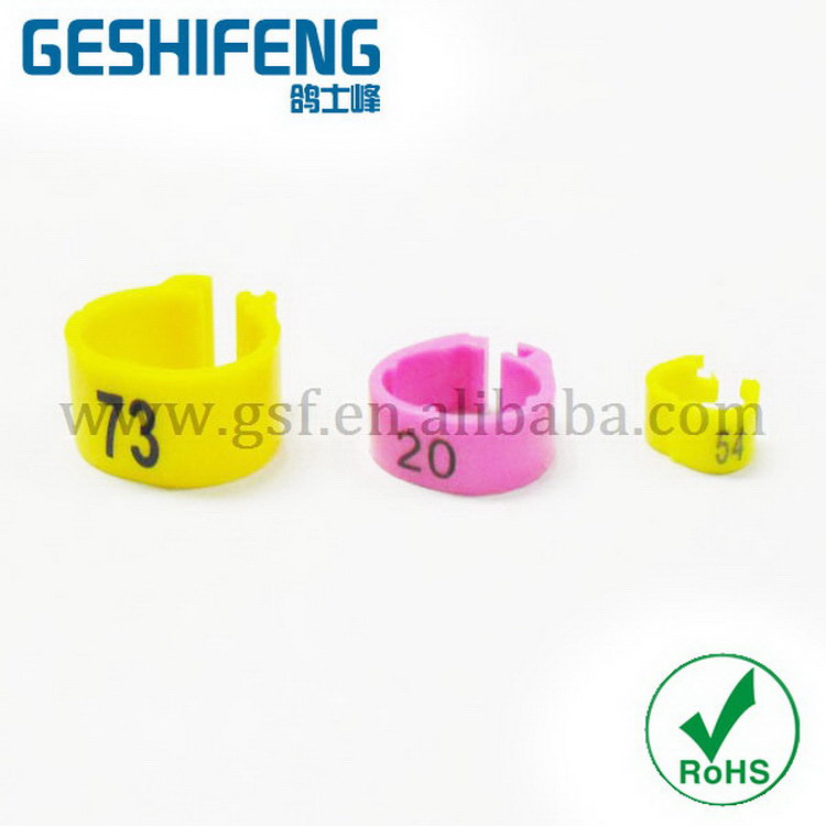 color canary foot ring budgie leg ring pigeon leg bands for sale