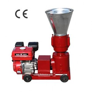Gasoline Engine Driven Animal Feed Rotation Roller Small Wood Pellet Press Machine Line