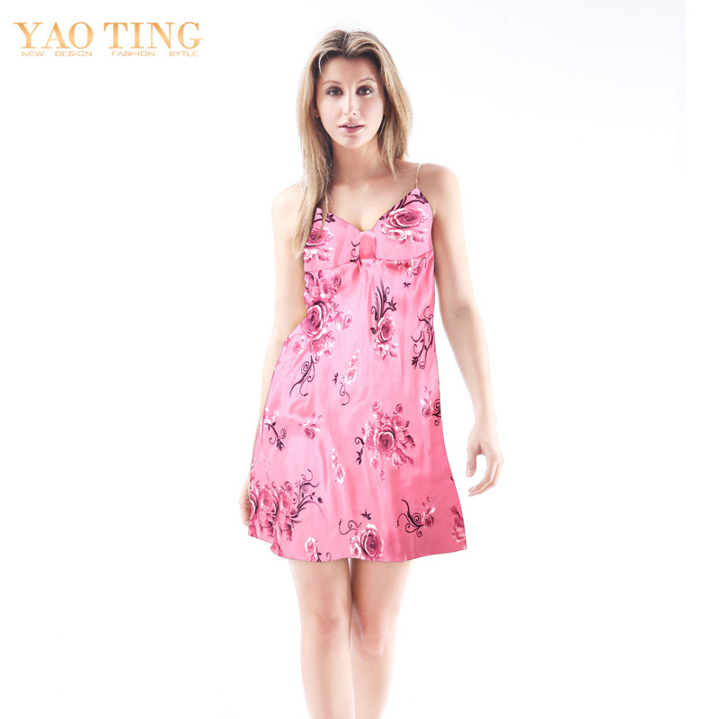 2015 Women Sexy Silk Spaghetti Nightgowns Princess Silk ... - photo#30