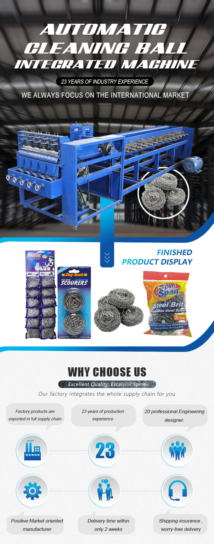 Kitchen 8 wire 4 balls scourer making machine/scrubber pad making machine