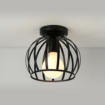 Industrial Vintage Surface Flush Mount E27 Bulb Circular Wire Cage Ceiling Light Fixture Buy Surface Mounted Round Light Fixtures Surface Mount
