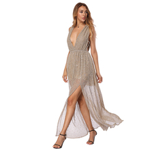 Ladies Đảng Mang Sequins <span class=keywords><strong>Dress</strong></span> Sâu V Cổ Nữ <span class=keywords><strong>Maxi</strong></span> <span class=keywords><strong>Dress</strong></span>