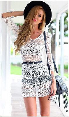 Сексуальные женщины летом пляж платье купальники бикини прикрыть кружева крючком рубашку блузку