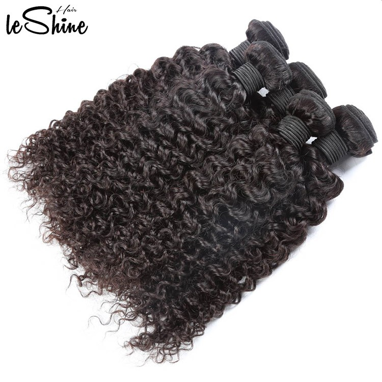No Shed No Tangle Brazilian Cambodian Peruvian Malaysian Types 9A Curly Weave Bundles Human Hair Extension Wholesale