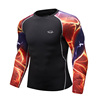 New design best print on demand t shirts rash tops surfing men dry fit gym t shirt