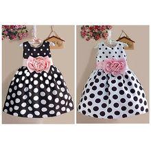 Fashion Princess Baby Kids Girls Party Wedding Polka Dot Flower Gown Sleeveless font b Fancy b