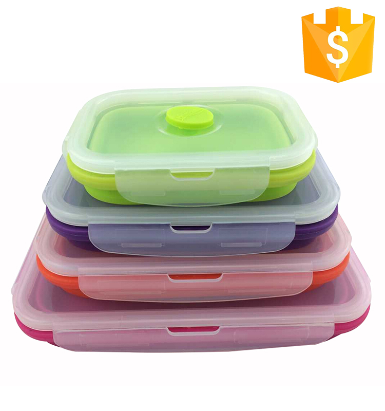 Food Grade Microwave Silicone Material Dinnerware Sets With Food Container