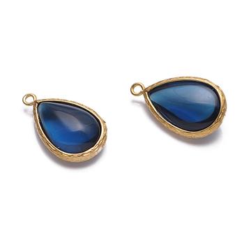8d7a093bfe6a Gota Azul druzy oro granate pendientes determinados resultados en oro o  plata en una variedad de