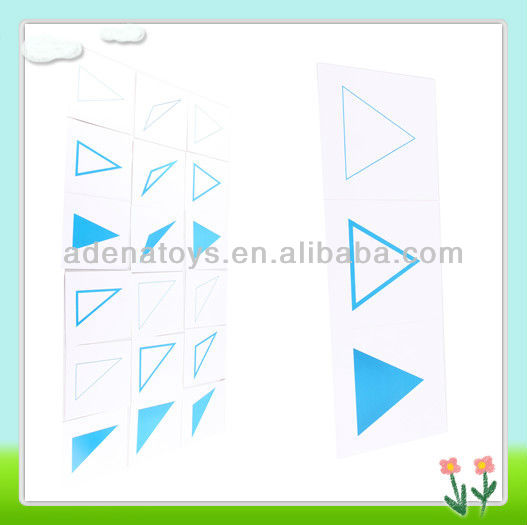 montessori educational toys Cards For Geometric Demonstration Tray-in card. A104
