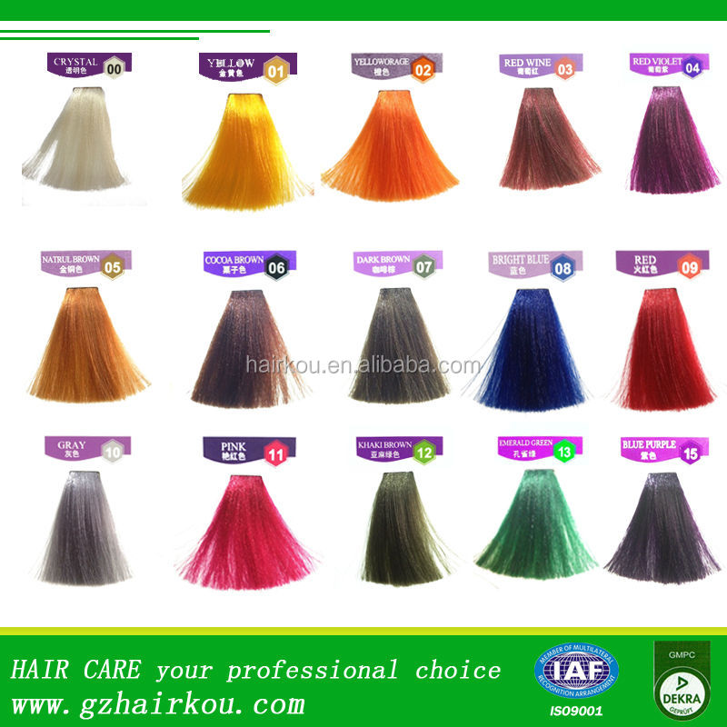 Oem Factory Super Colorantsemi Permanent Hair Dye Cream For