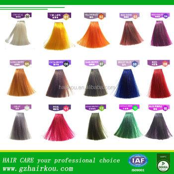 Oem Factory Super Colorantsemi Permanent Hair Dye Cream For