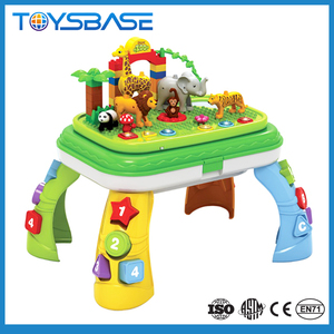 Educational toys multifunction 2 in 1 building block kids study table