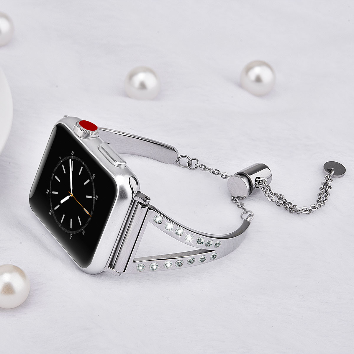 f7b5b0b52 2018 Rhinestones Metal Watch Band For Apple Watch Woman Bracelet, for  iWatch Band