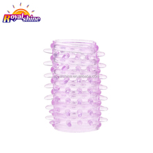 High Quality Flexible Spike Crystal Penis Cock Sleeves Ring Delay Ejaculation Cock Ring