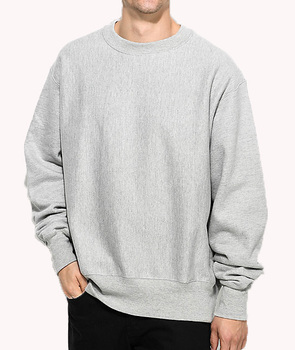 Reverse Weave Grey Crew Neck Sweatshirt Hot Sale Mens Cotton Hoodies