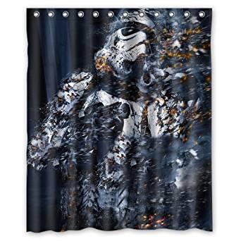 Custom Fashion Design Star Wars Stormtrooper Shower Curtain Home Decoration Mildew Waterproof Polyester Fabric Bathroom