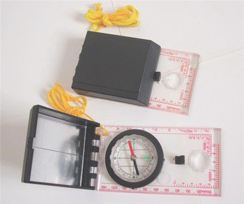 Multi-function Map compass with transparent mirror flip the compass