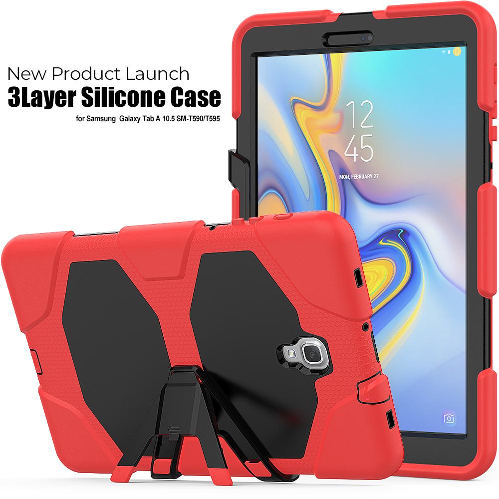 For Samsung Galaxy Tab A 10.5 Inch SM-T590/SM-T595 shockproof Hybrid heavy duty protection Case фото
