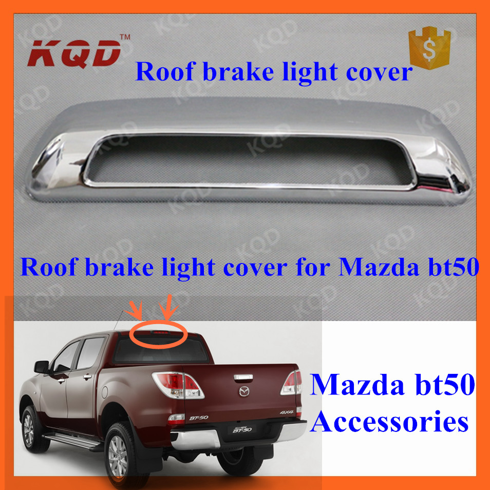 car Decoration Chrome Stoplight Cover for mazda bt 50 accessories roof tail rear brake lamp cover bt-50 mazda bt50 accessories