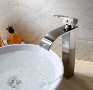 Waterfall Shower room grifo brushed 304 Stainless steel basin faucet Hot and Cold Mixer Water taps