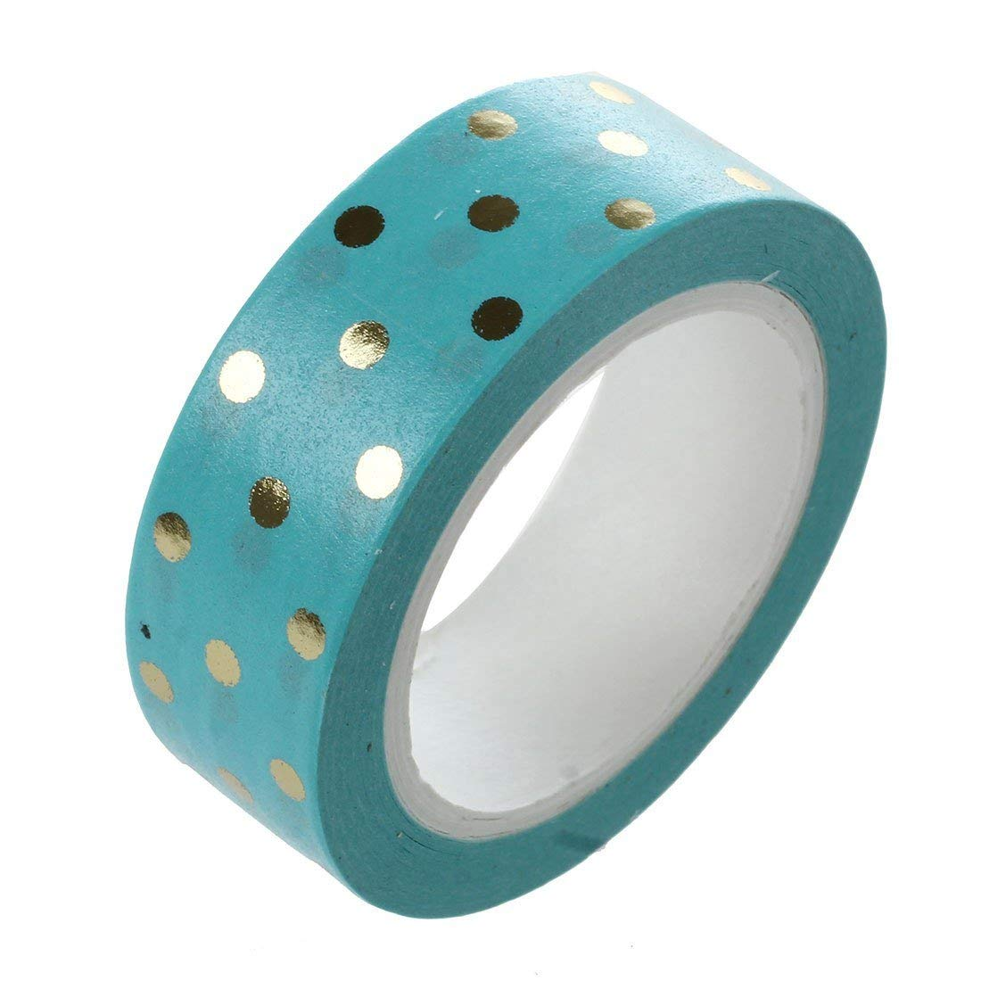Foil Gold Masking Tape Decorative Craft Tape Collection for DIY and Gift Wrapping Kaifa Foil Gold 6 Rolls-Blue+Love+Music