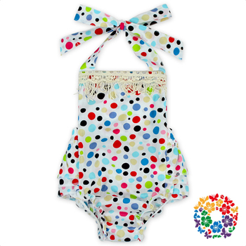 Cheap Adult Girl Boutique Clothing Lace Halter Printing Custom