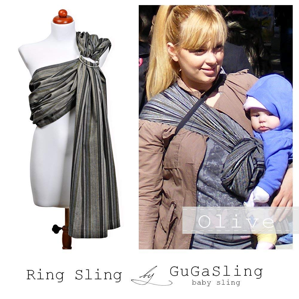 cf711534859 Get Quotations · GuGaSling Olive Baby ring sling with gift bag