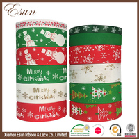 Attractive design wholesale printed adhesive christmas celebrate it ribbon