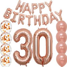 Hotsales rose 금 Happy birthday set 30th 년 자 장식 Man Girl 용품 복 30 생일 Balloon