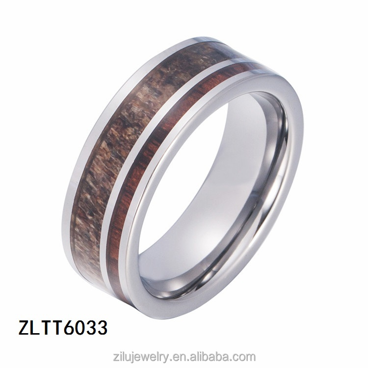 ZLTT6033 Gold tungsten ring with high matted polished gold ring for men