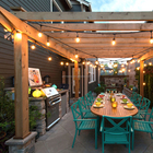 25Ft Connectable Outdoor Garden Party Patio Bistro Market Cafe Hanging Socket Lamp LED Globe Outdoor String Lights G45 Bulbs