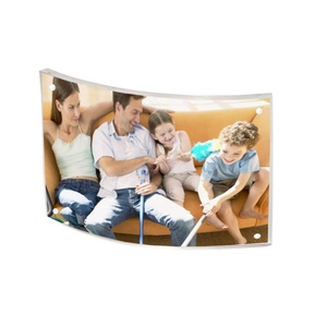 Bend plexi glass photo frame clear display curved acrylic picture frame