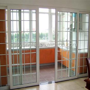 America Style Balcony Sliding Door Double Sliding Door With Double on